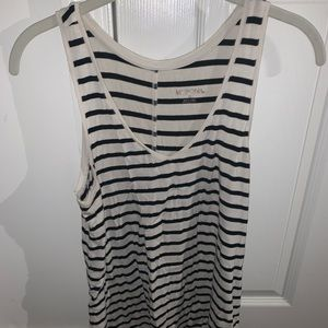 Merona // Target Black and White Striped Tank Top